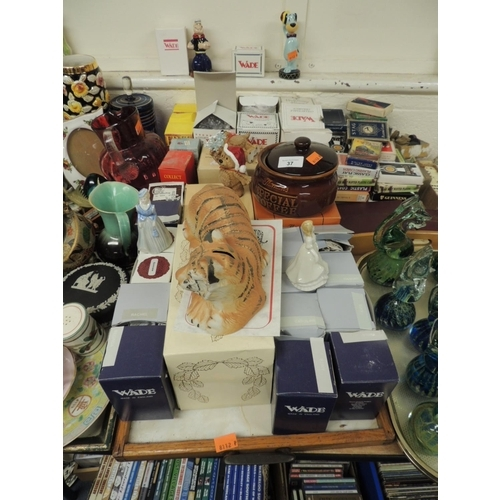 37 - Boxed Wade collectable figures including a limited edition of 100 tiger coin box, several 'My Fair L...