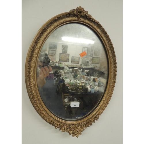 41 - Oval gilt framed mirror