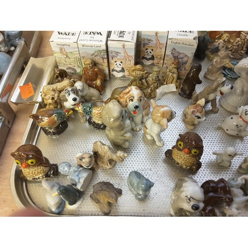 48 - Large quantity of Wade Whimsical figures, some boxed (4 trays)