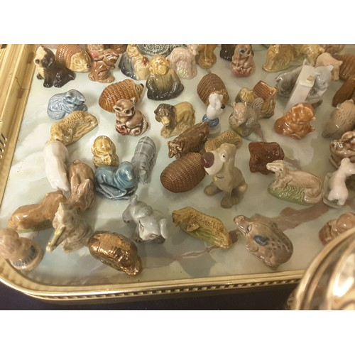 23 - Three trays of Wade Whimsical figures
