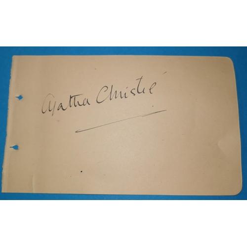382 - AGATHA CHRISTIE autograph on single album leaf...