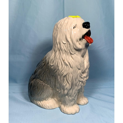 70 - A large Beswick figure of an Old English Sheepdog height 11.5