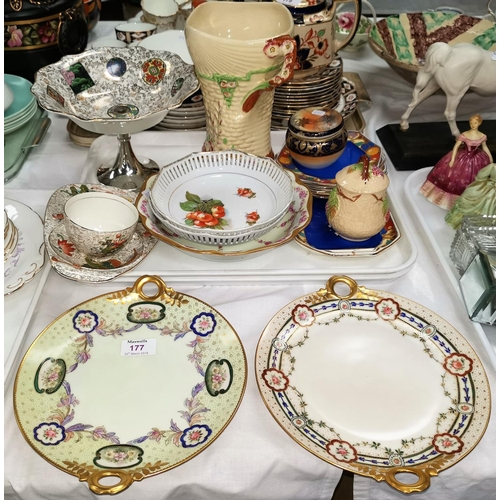 177 - A pair of Rosenthal plates and decorative china...