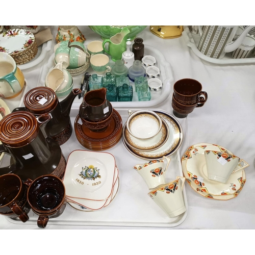 191 - A 1960's Beswick brown glaze coffee set; other part tea sets; etc....