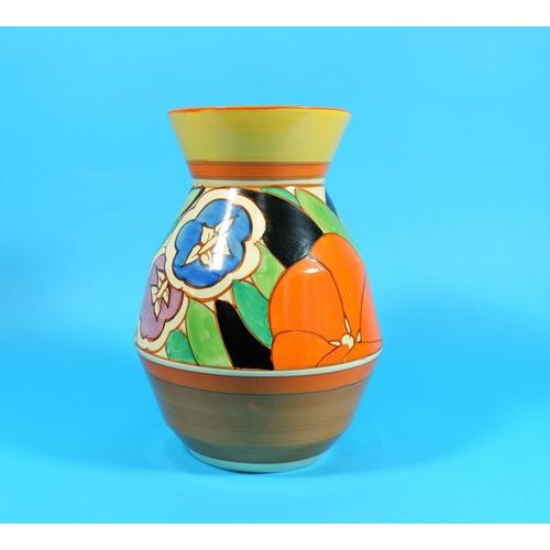 195 - A Clarice Cliff vase,