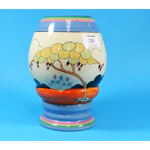 201 - A Clarice Cliff vase, shape 362,