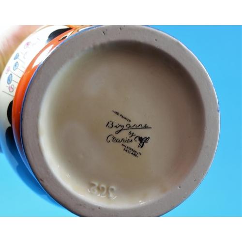 201 - A Clarice Cliff vase, shape 362,