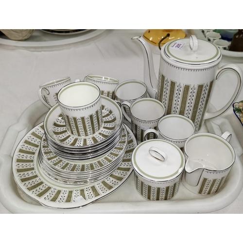 205 - A Susie Cooper bone china Persia pattern tea set, 6 place, including teapot...