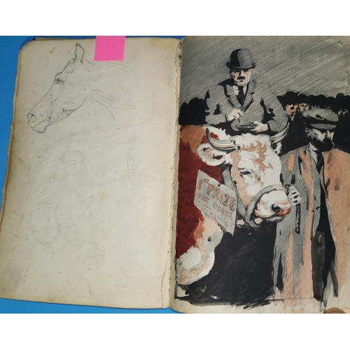 474 - CHARLES FREDERICK TUNNICLIFFE, 1901 - 1979: a SKETCHBOOK, 8.25