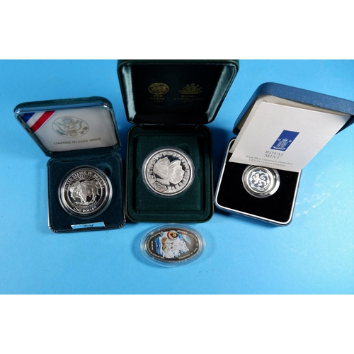 341 - Australia, Sydney Olympics 2000, $5 coin; 3 other presentation coins; a collection of QV and later c...