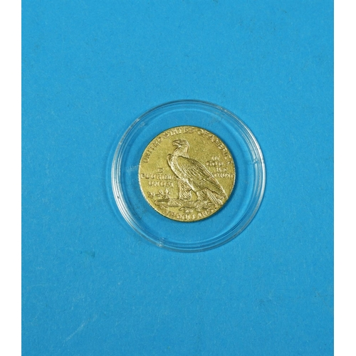 343 - USA:  gold $5 1911...