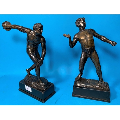 475 - A late 19th/early 20th century bronzed figure of