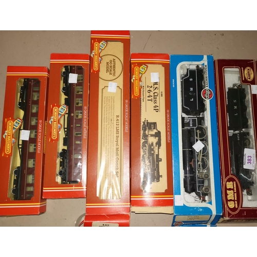 383 - A HORNBY Railway LMS Class 4P 2-6-4T locomotive, 00 gauge, a Royal Mail coach and other rolling stoc...