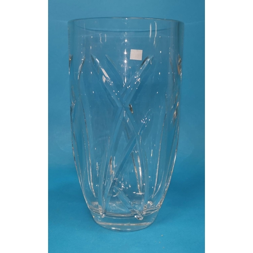 160 - A large Waterford cut glass vase designed by John Rocha height 10
