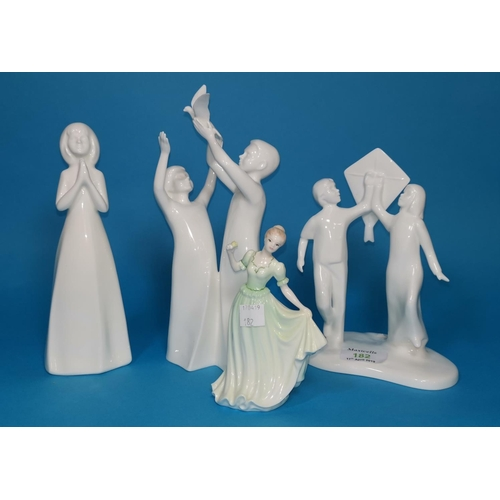 182 - Three Royal Doulton groups: