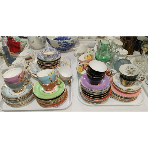 187 - A large selection of bone china teaware; etc....