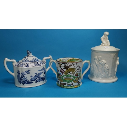 190 - A 19th century loving cup