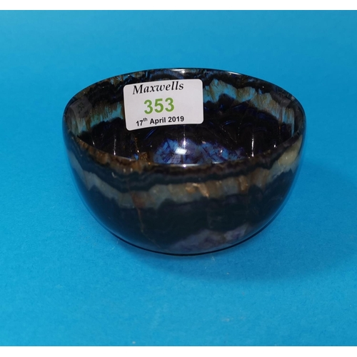 353 - A Blue John circular bowl, diameter 3.75