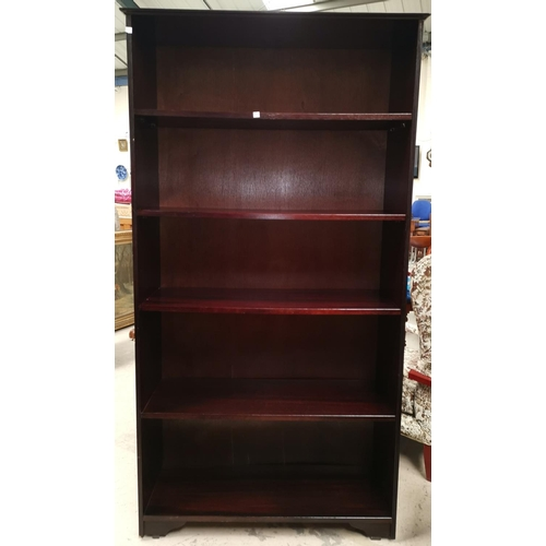 630 - A large reproduction mahogany 5 height bookcase, height 69
