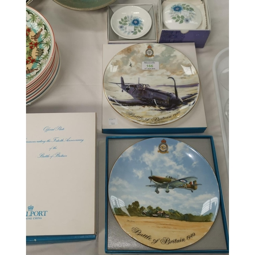 166 - A set of 6 Coalport limited edition plates commemorating the 40th Anniversary of the Battle of Brita...