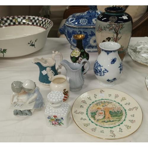 171 - A Royal Copenhagen figure group; a 20th century Worcester vase; other decorative items