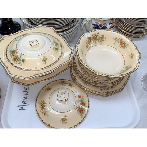 201 - An early 20th century Wellington Japan part tea set, 35 pieces approx; a Royal Winton floral part di...