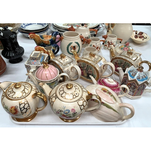162 - Three Sadler teapots; other decorative/novelty teapots...