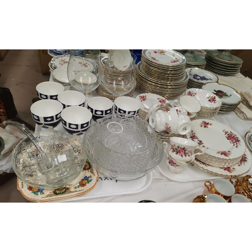 179 - A Richmond bone china part dinner and tea service, 42 pieces approx.; 6 blue and white porcelain gob...