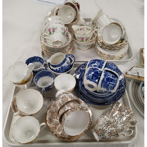 193 - An Abbey blue & white 20 piece part tea set; other teaware...