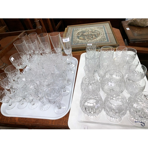 159 - A selection of cut drinking glasses...