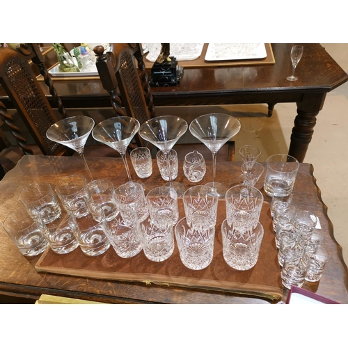 153 - A selection of Stuart and other cut drinking glasses and other glasses...