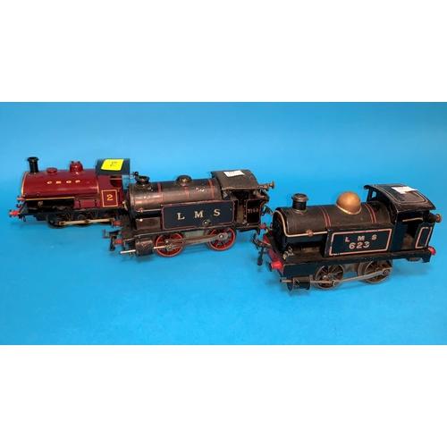 719 - 3 clockwork '0' gauge locos 0-6-0