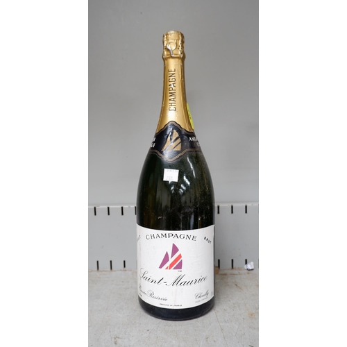 238 - A magnum bottle of Saint-Maurice Champagne for the British Challenge and Americas Cup 150cl...