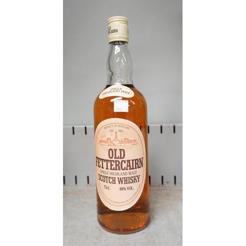 240 - A vintage bottle of Old Fettercairn single Highland malt scotch whiskey 40% vol 75cl...