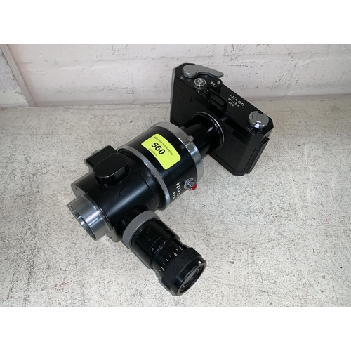 560 - A NIKON M-35S microscope camera...