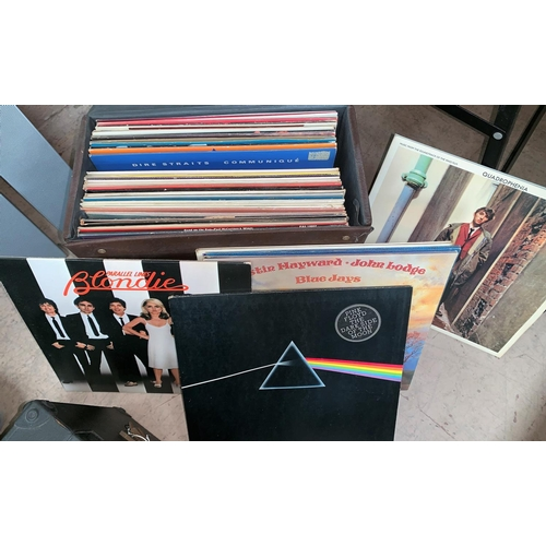 529 - A selection of 1970's LP's to include The Moody Blues, Pink Floyd, Dire Straits, David Bowie etc...
