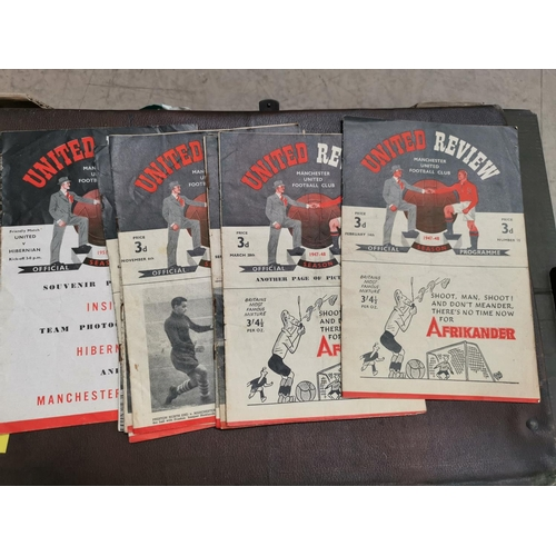 617 - MUFC - a collection of 10 programmes 1948 - 1950...