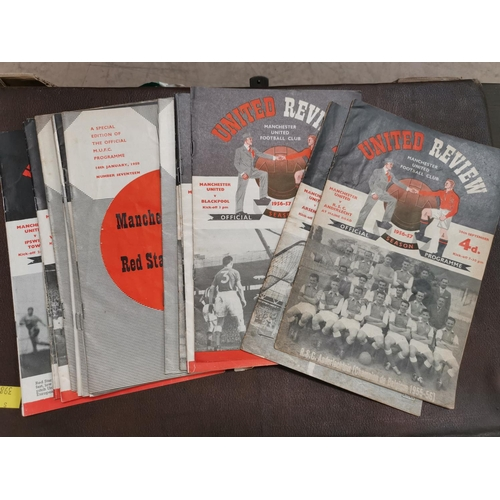 619 - MUFC a group of 19 1956/7/8 home programmes...