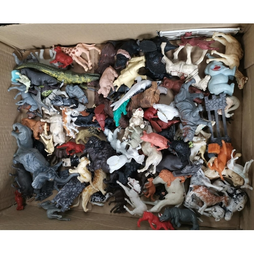 747 - A selection of Britains animals and other animals, mainly plastic from various zoo sets...