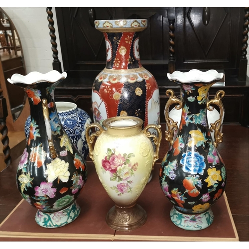 22 - A selection of large modern decorative vases...