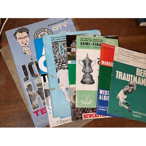512 - MCFC: Bert Trautman Testimonial Match programme 1964; a group of 6 other testimonial and cup final p...