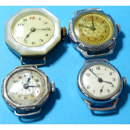 333 - Three early 20th century ladies wristwatches with   NO BIDS ON THIS LOT SOLD WITH THE NEXT LOT...