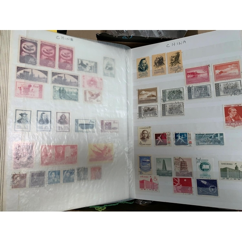 395 - China  a collection of stamps on 16 pages in stockbook with other stamps...