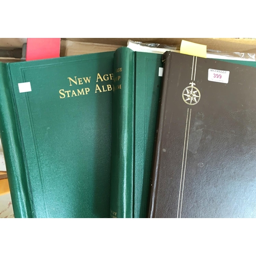 399 - Trinidad:  early high values and other stamps; 2 New Age Stamp Albums...