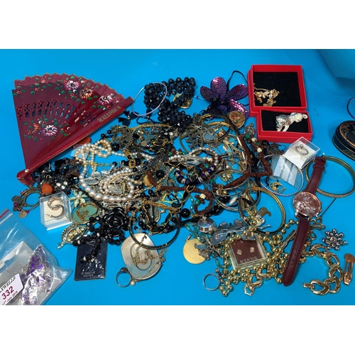 332 - A selection of costume jewellery...