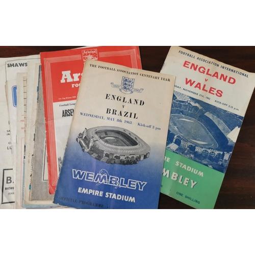 507 - England v Brazil 8.5.1963 and other international programmes...