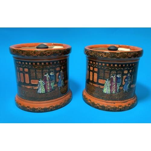 177 - Two Royal Doulton series ware tobacco jars