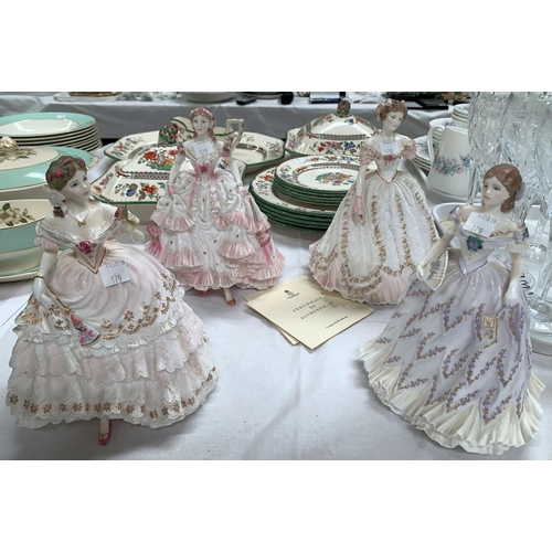 179 - Four Royal Worcester limited edition figures: