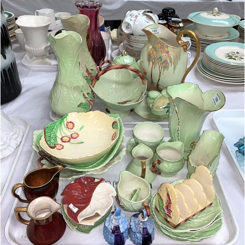 186 - Approximately 25 items of Carltonware:  green leaf patter;  Rouge Royale; etc....