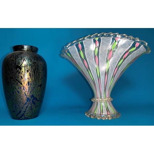 191 - A Royal Brierley Art Glass iridescent vase, height 6.5